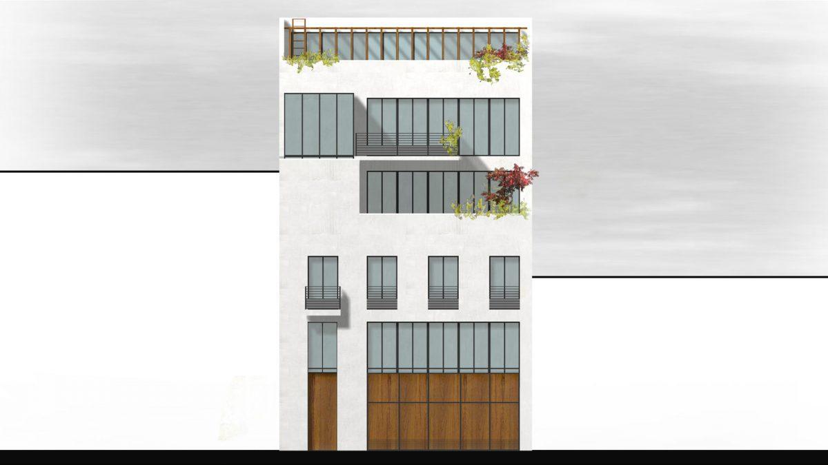 [SDAP de Paris «Petits immeubles parisiens»] Insertion urbaine remarquée, Paris 15e – France